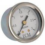 Boiler manometer met logo