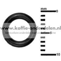 O-ring koffieuitloop zetgroep