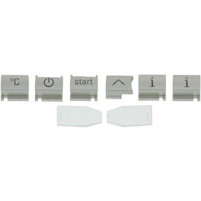 Bedieningsknoppen set voor Siemens EQ 7-display, 6 knoppen gelakt en 2 lichtgeleiders