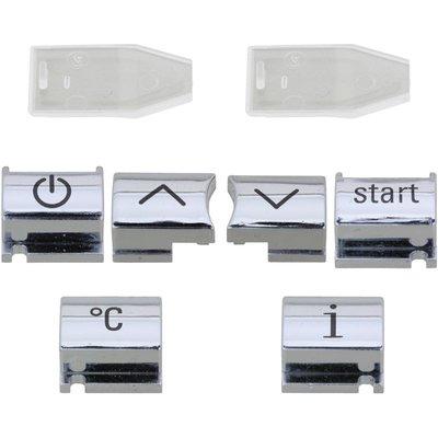 Knoppen Chroom met symbool voor de Siemens EQ7