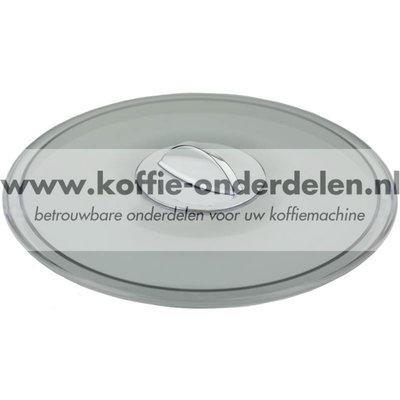 Deksel Bonenreservoir met verchroomd handvat